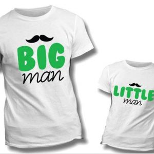 "T-SHIRT COPPIA ""Big Man-Little Man"""
