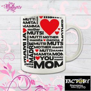 """Tazza """"Mamma (in tutte le lingue)"""""""