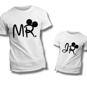 "T-SHIRT COPPIA ""Mr-Jr"""