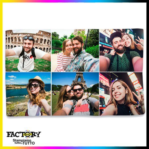 plaid personalizzato collage