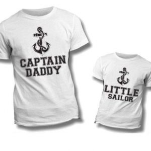 """T-SHIRT COPPIA """"Captain Daddy-Little Sailor"""""""