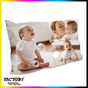 Federa cuscino singolo 80×50 personalizzata con foto