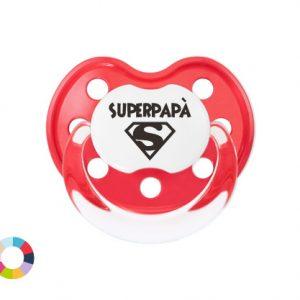 """Ciuccio Personalizzato """"Super Papà"""""""