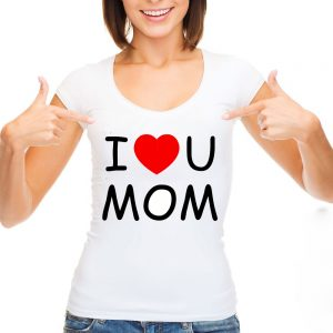 "T-shirt ""I love mom"""