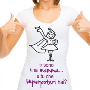 """T-shirt """"E tu che superpoteri hai?"""""""