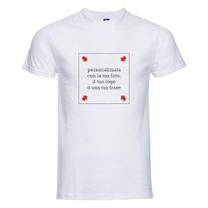 T-shirt bianca uomo