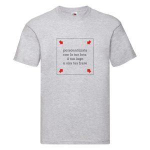 T-shirt grigia uomo